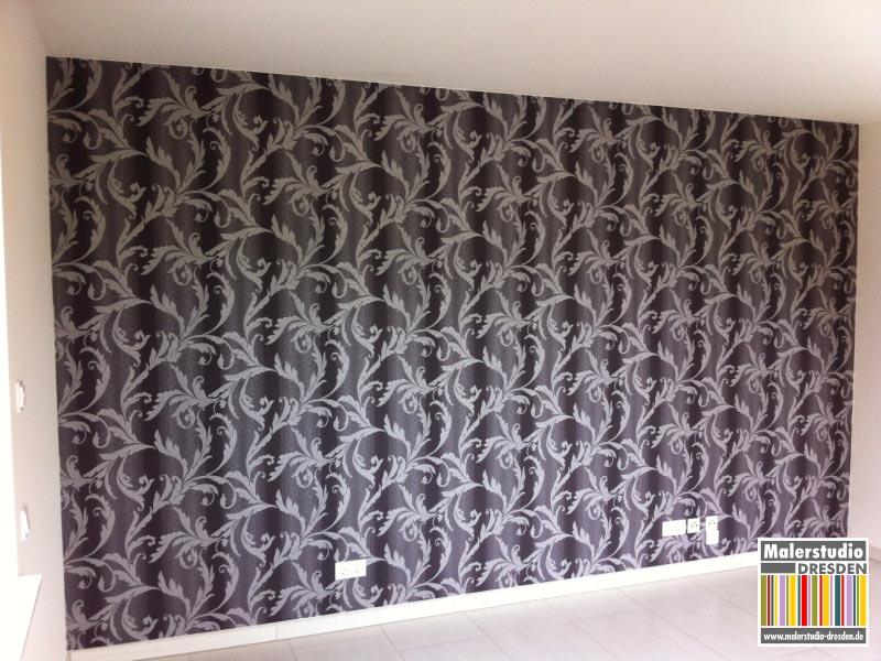 Wohnzimmer Wandgestaltung Mit Luxury Tapete ...